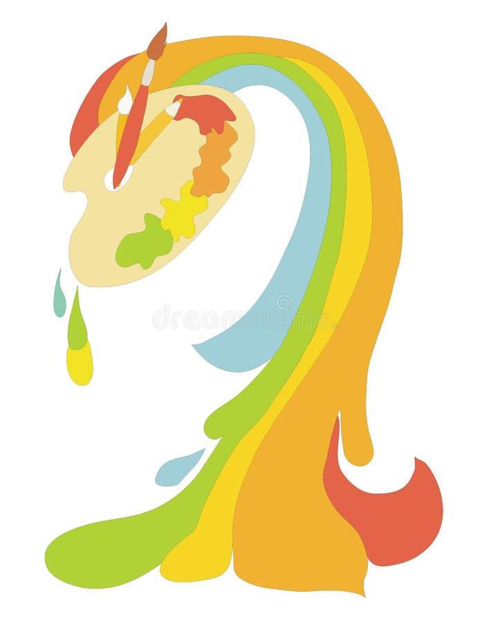 Gamma di colori con le vernici royalty illustrazione gratis