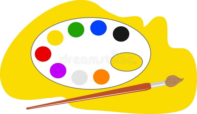 Gamma di colori degli artisti illustrazione vettoriale