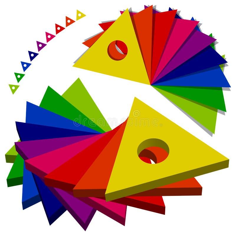Gamma di colori dei triangoli di colore illustrazione vettoriale