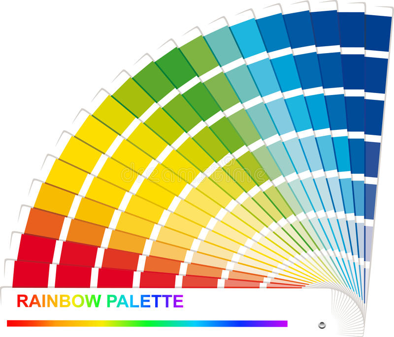 Gamma di colori del Rainbow illustrazione vettoriale
