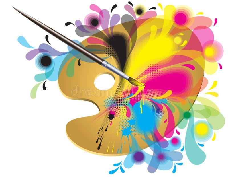 Gamma di colori dell'artista illustrazione vettoriale