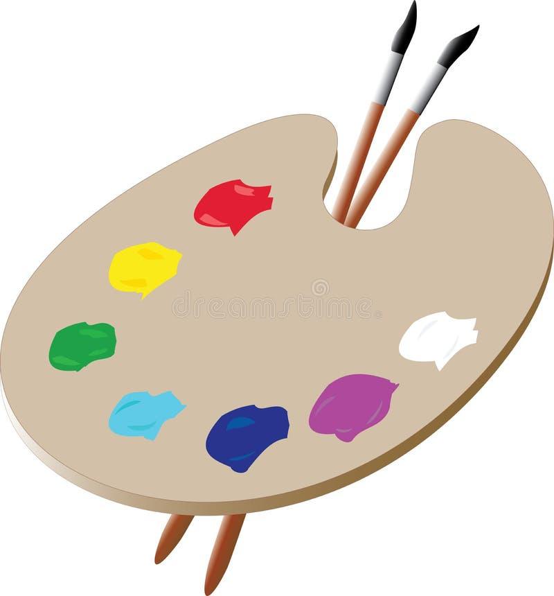 Gamma di colori dell'artista illustrazione di stock