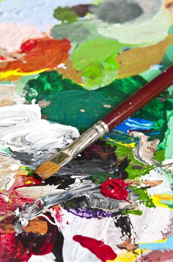 Gamma di colori dell'artista fotografia stock libera da diritti