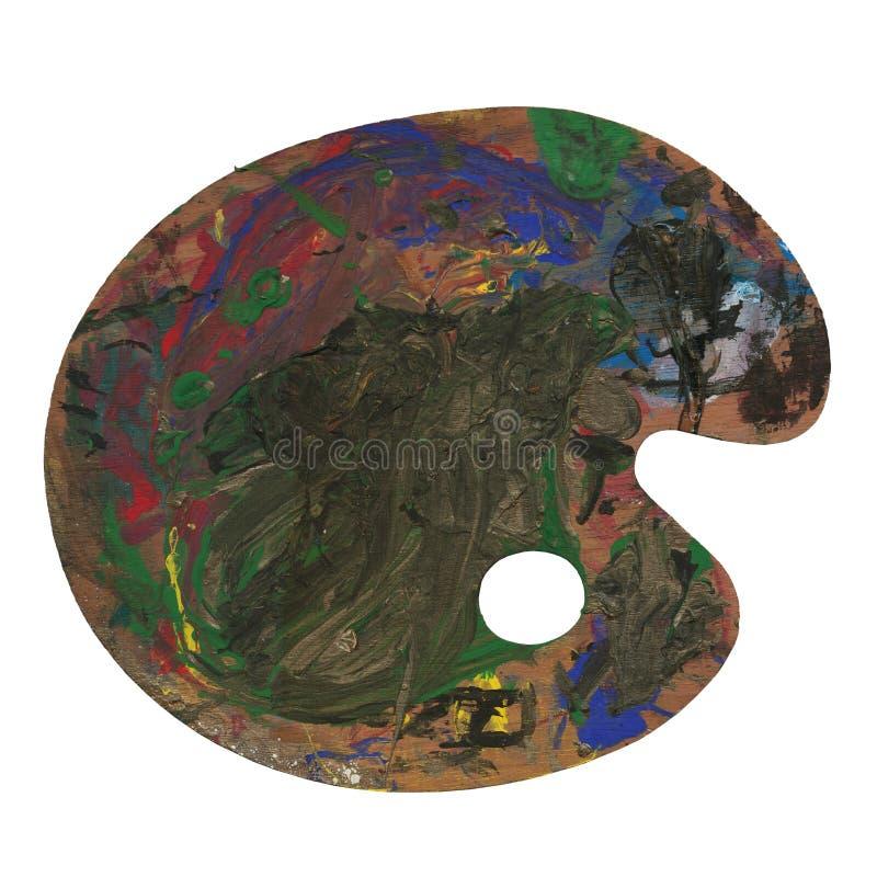 Gamma di colori della vernice dell'artista royalty illustrazione gratis