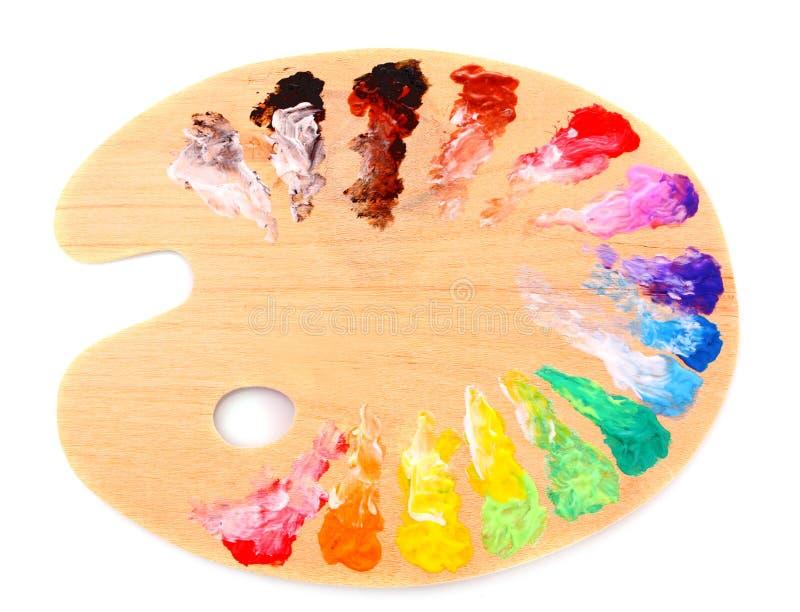 Gamma di colori di legno di arte fotografie stock