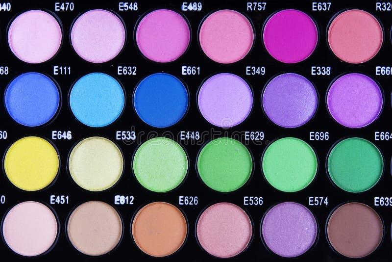 Gamma di colori di trucco fotografia stock