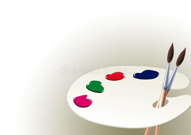 Gamma di colori e vernice   illustrazione di stock