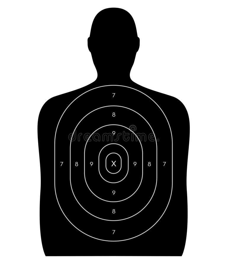 Gamma di fucilazione - obiettivo umano illustrazione vettoriale