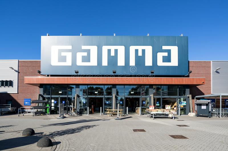 Gamma hardware store. Gamma is a Dutch hardware store-chain. It started in May 11, 1978 in Breda royalty free stock photo