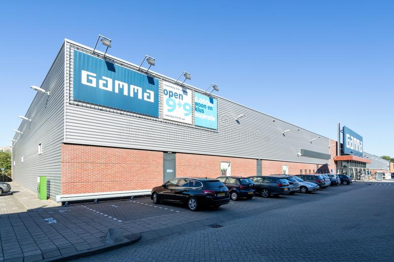 Gamma hardware store. Gamma is a Dutch hardware store-chain. It started in May 11, 1978 in Breda stock image