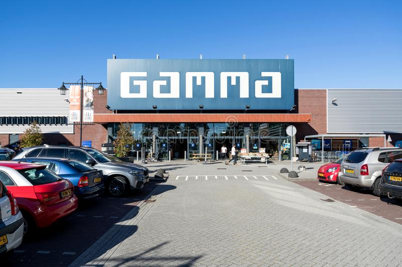 Gamma hardware store. Gamma is a Dutch hardware store-chain. It started in May 11, 1978 in Breda royalty free stock images
