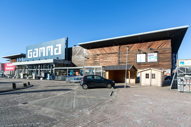 Gamma hardware store. Gamma is a Dutch hardware store-chain. It started in May 11, 1978 in Breda royalty free stock photos