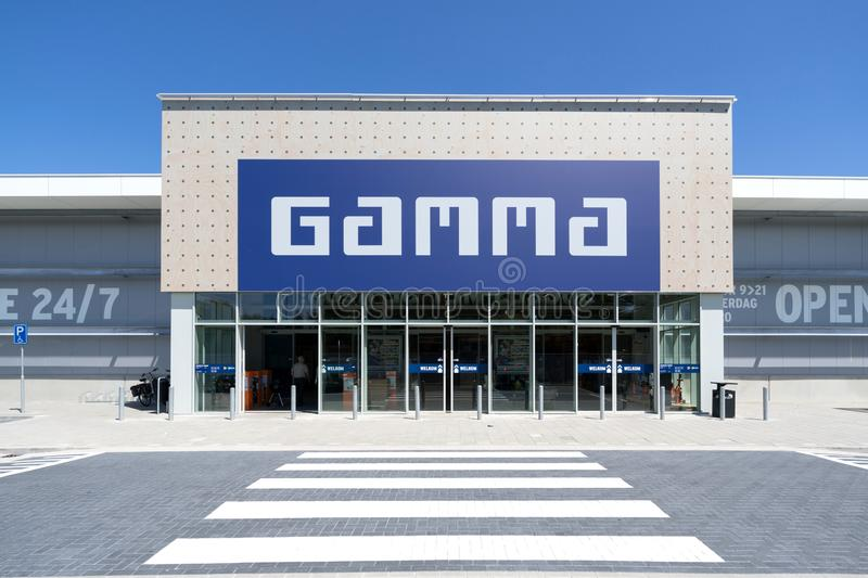 Gamma hardware store in Katwijk aan Zee, Netherlands. Gamma is a Dutch hardware store-chain. It started in May 11, 1978 in Breda stock photos