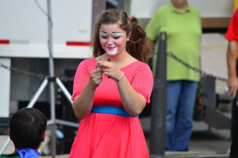 Gamma Phi Circus Clown fotografia stock libera da diritti