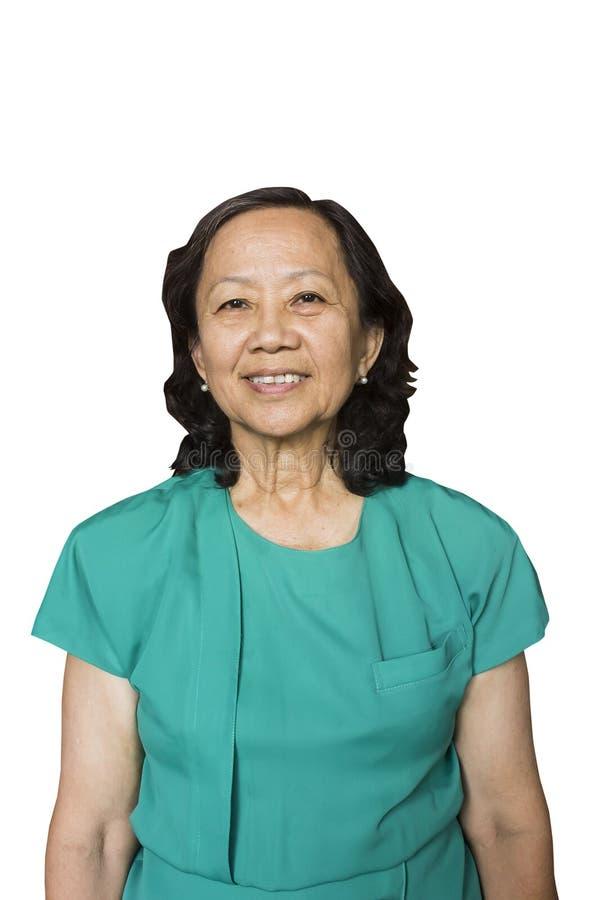 Gammal åldrig thailändsk kvinna royaltyfri bild