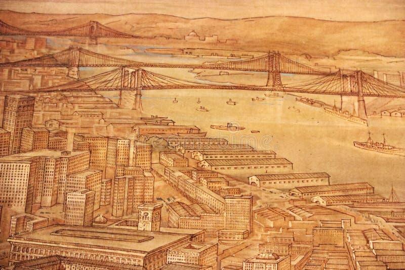 Gammal översikt av New York arkivfoto