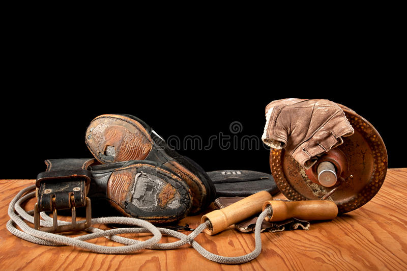 Gammal övningsutrustning fotografering för bildbyråer