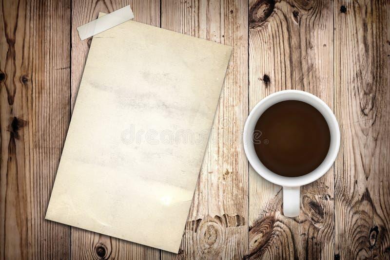 gammal affisch för kaffe arkivfoton