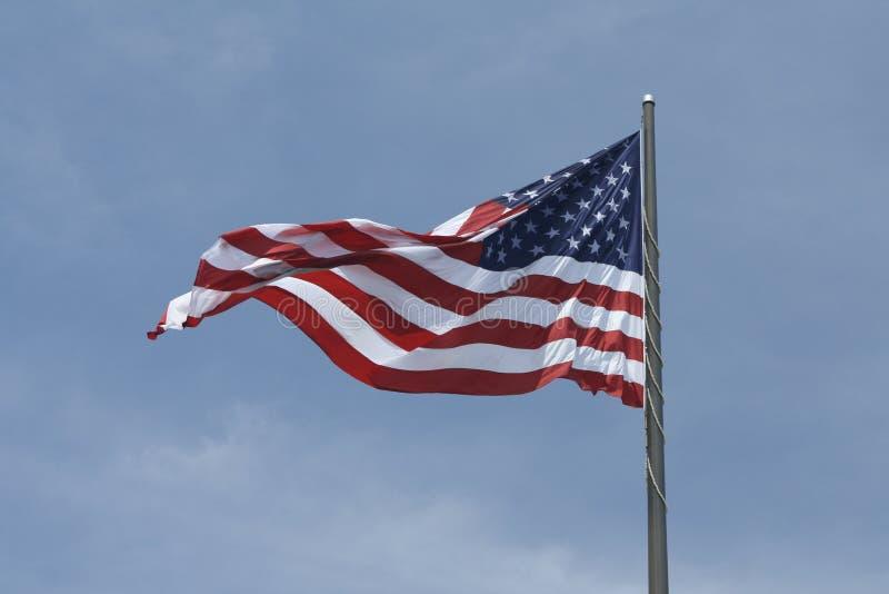 gammal amerikanska flagganhärlighet arkivfoton
