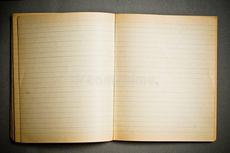 gammal anteckningsbok arkivbild