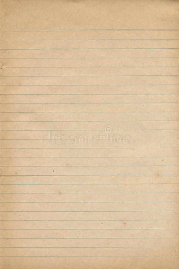 Gammal anteckningsbokpapperstextur arkivbilder
