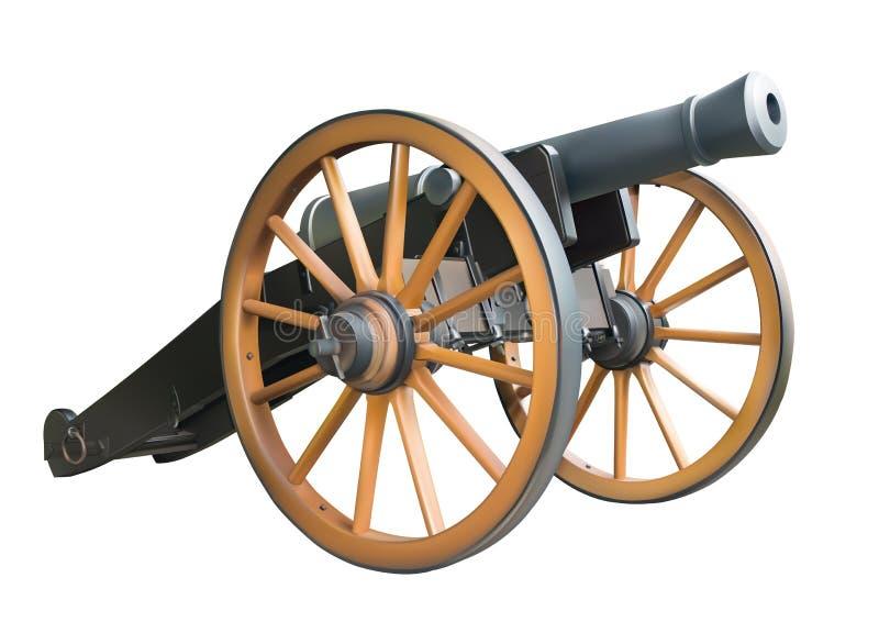 gammal artillerikanon stock illustrationer
