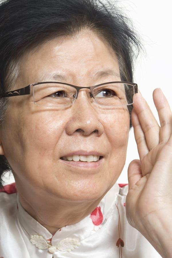 gammal asiatisk lady royaltyfria foton