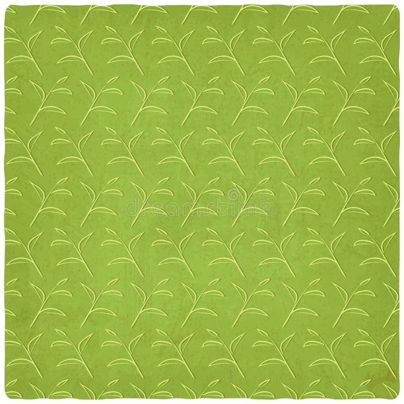 Gammal bakgrund för grönt te royaltyfri illustrationer