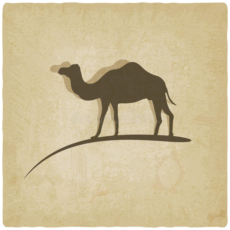 Gammal bakgrund för kamel royaltyfri illustrationer