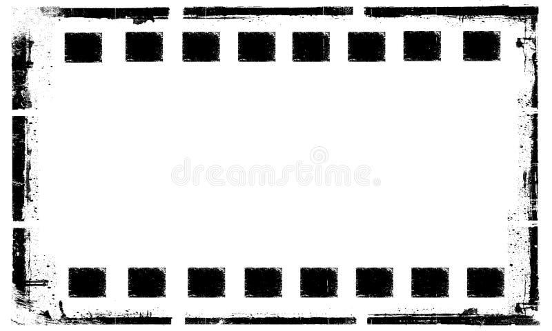 Gammal bakgrund för ram för grungefilmremsa vektor illustrationer