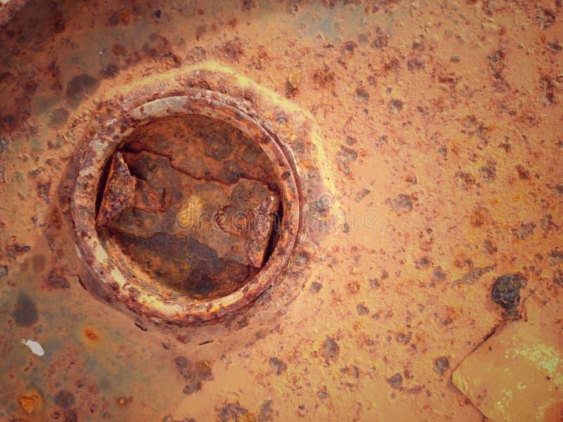 Gammal bakgrund för rost för metallark arkivbild