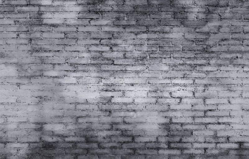 Gammal bakgrund för textur för tegelstenväggen med grå färger och vit färgar på t arkivfoton