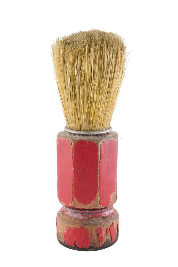 gammal barberareborste royaltyfri bild