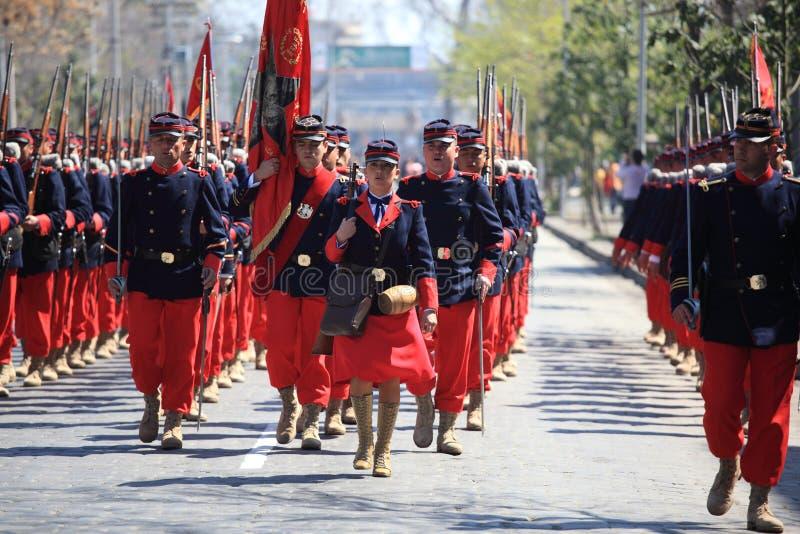 Gammal bataljon chile royaltyfri bild