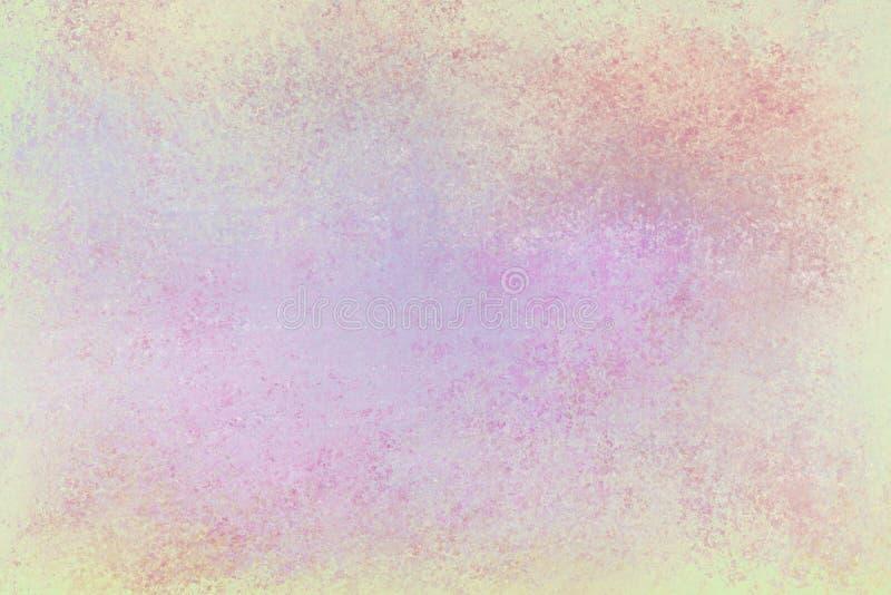 Gammal bekymrad bakgrundsdesign med urblekt grungetextur i färger av pastellgräsplanlilor och rosa färger royaltyfri illustrationer