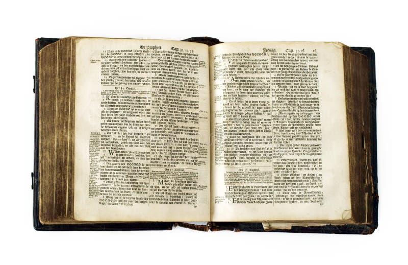 gammal bibel mycket royaltyfri bild