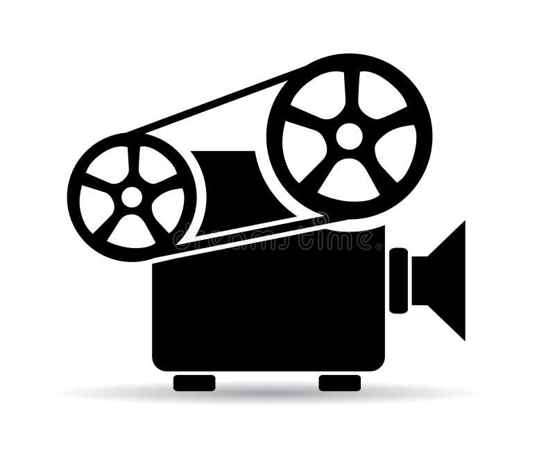 Gammal biovideoprojektor royaltyfri illustrationer