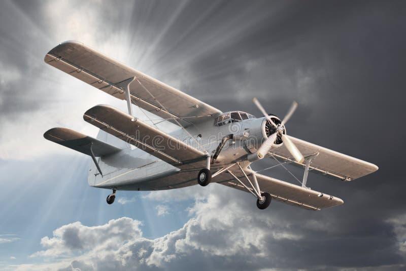 Gammal Biplane. royaltyfria bilder