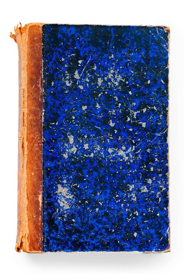 gammal blå bok royaltyfri fotografi