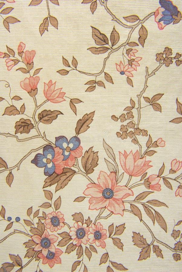 Gammal blom- textur för tapet royaltyfri bild