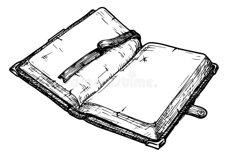gammal bok royaltyfri illustrationer