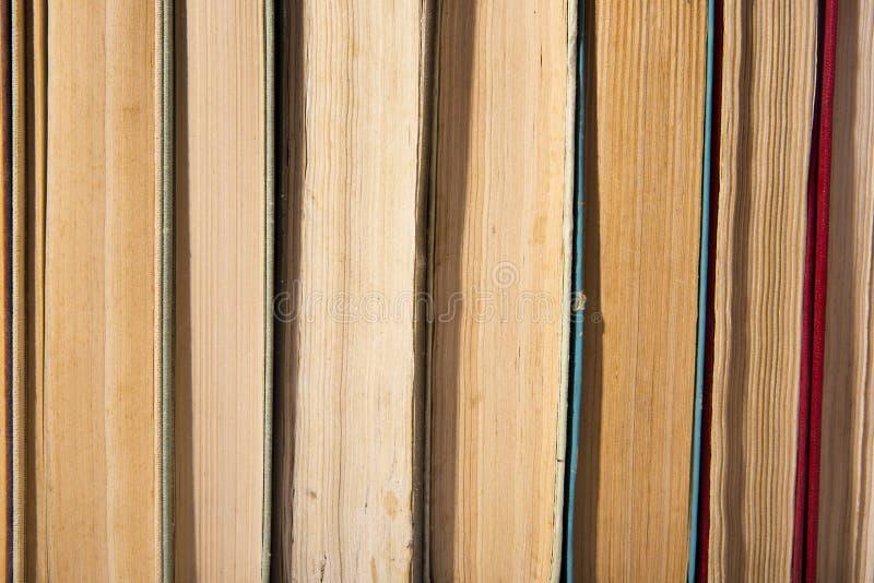 Gammal bok för närbild Läsning modell royaltyfri bild