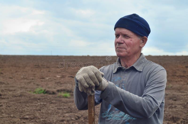 gammal bonde arkivbild
