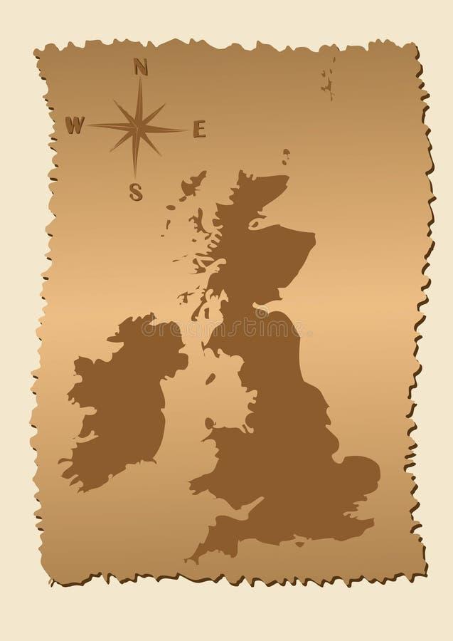 gammal britain stor översikt stock illustrationer