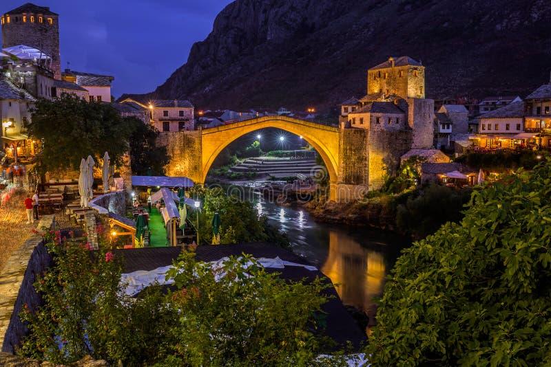 Gammal bro i Mostar - Bosnien och Hercegovina arkivbild