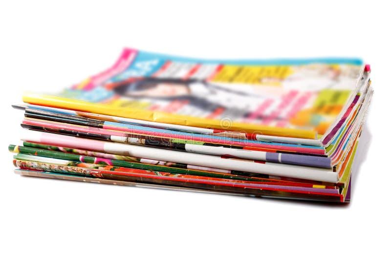 gammal bunt för kulöra tidskrifter royaltyfria foton