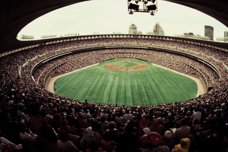 Gammal Busch stadion, St Louis, MO. fotografering för bildbyråer