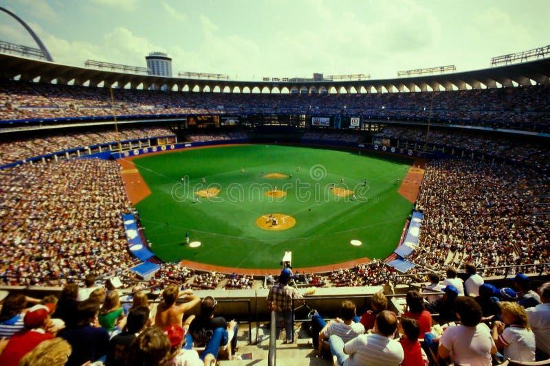 Gammal Busch stadion, St Louis, MO. royaltyfria foton