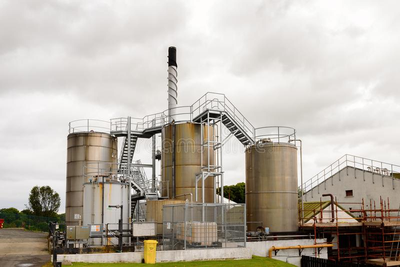 Gammal Bushmills whiskyspritfabrik arkivbild