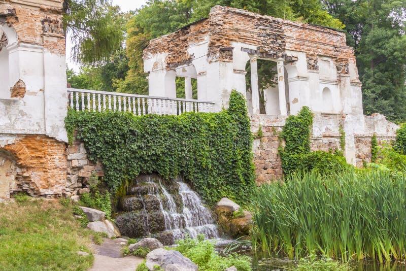 Gammal byggnad i Alexandria Park, Bila Tsherkva, Ukraina, Europa. royaltyfri foto